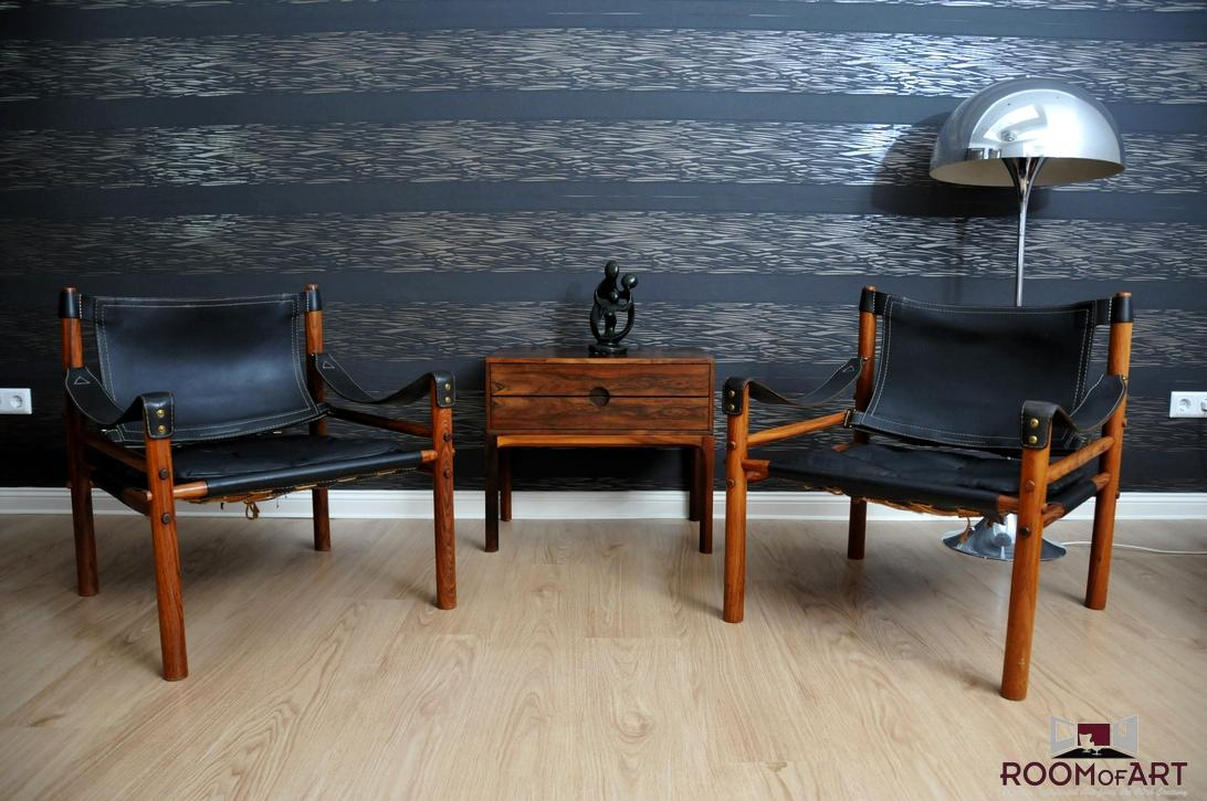Pair Of Safari Chairs By Arne Norell