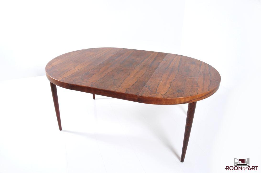 round oval danish dining table room of art. Black Bedroom Furniture Sets. Home Design Ideas