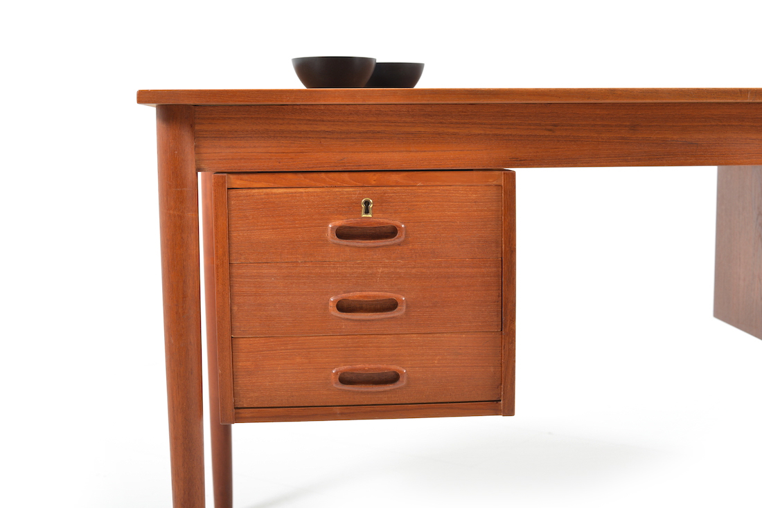 danish modern century mid table great desk teak artistry top dining room