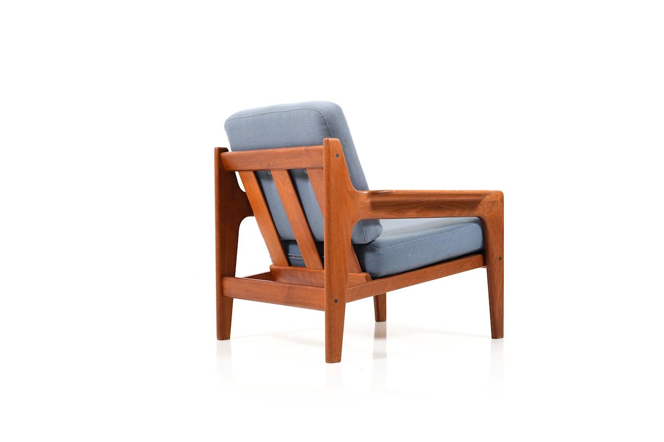 Danish Teak Easy Chair And Sofa Table By Arne Wahl Iversen Room Of Art