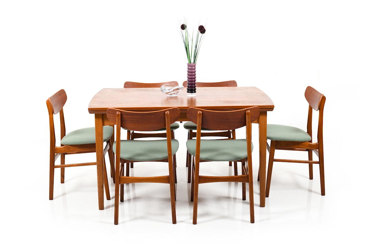 Mid Century Danish Dining Table in Teak and Oak   Room of Art
