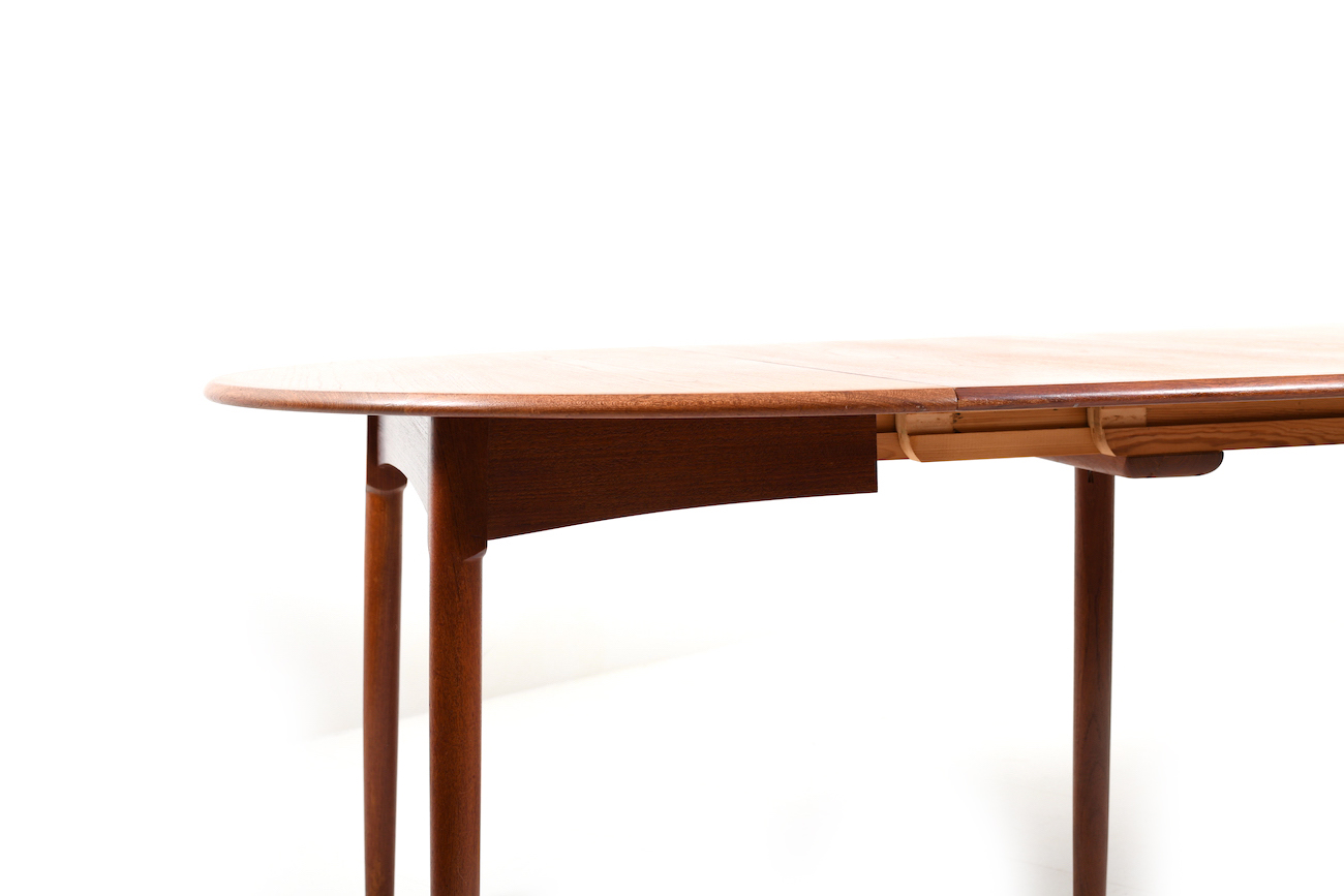 High Quality Danish Teak Dining Table With Bevel Legs Room Of Art