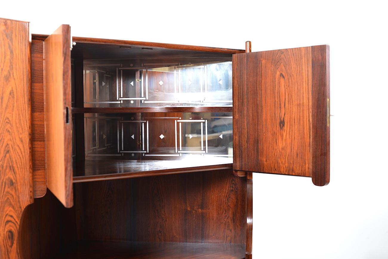 Mid Century Corner Cabinet: Mid Century Danish Rosewood Corner Cabinet